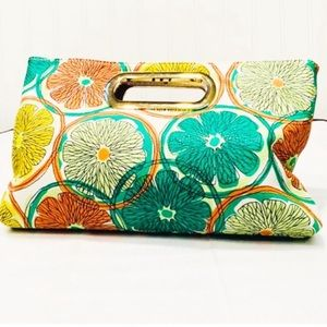 Like NEW Charming Charlie Fruit Salad Clutch Purse